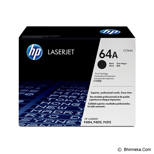 HP Black Toner 64A [CC364A] - Toner Printer HP